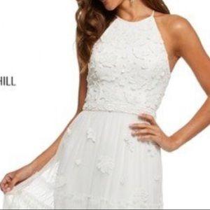 Sherri Hill Dresses - Sherri Hill Ivory long Formal - Boho-Inspired